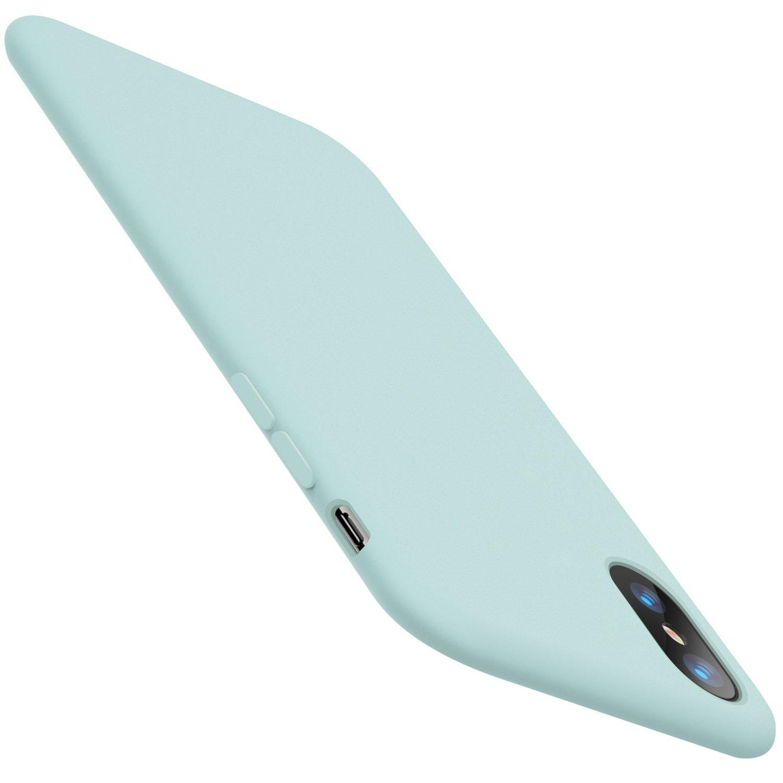 Ofertas Abril Funda iPhone XS MAX Carcasa Silicona Suave Colores