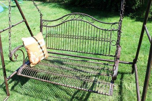 DanDiBo Schaukel 082505 Hollywoodschaukel aus Metall Schmiedeeisen Gartenschaukel (1) - 6