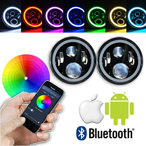 omotor-7-inch-led-headlight-assemblies-40w-cree-with-multicolor-rgb-halo-angle-eye-app-bluetooth-rem