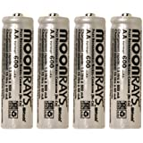 Moonrays 97125 Rechargeable NiCd AA Batteries For Solar-Powered Lights