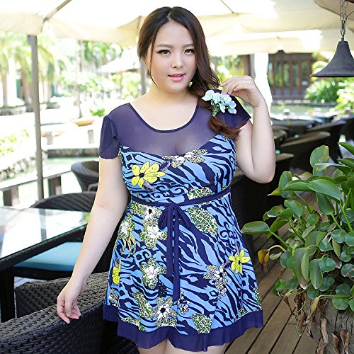 XL-übergewichtige Menschen kleiden einteilige Bikini-Badeanzug 4XL (120-140) 5