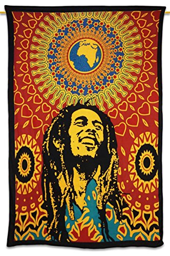 "Red Human Print Tapestries Picnic Blanket Hippie Bohemian Wall Decor Gift 82"" X 54"""