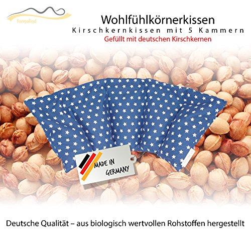 Großes Kirschkernkissen / Entspannungskissen zur Wärmebehandlung - Heizkissen für Mikrowelle (Wärmekissen) // langes Relaxkissen // Zur Wärme- oder Kältetherapie/ in 18 Farben! (blau)