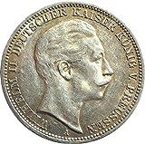 Silbermünze 3 Mark 1910 A - Erhaltung SS+ - Silber Münze - Kaiser Wilhelm II. Preussen