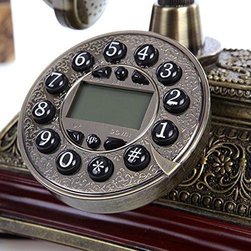 Motesuvar Europäische Antike Telefon, Retro - Mode, Kreative Im Amerikanischen Stil, Telefon, Moderne Klassische Heim - Flugzeug,Die Hände Frei, Blue Screen Caller Id (Doppel - Glocke) Screen Caller Id