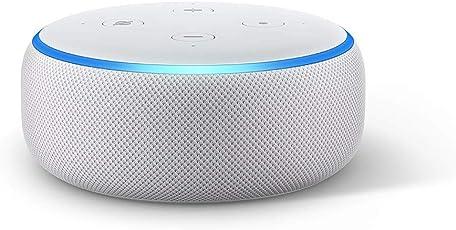 Das neue Echo Dot (3. Gen.) Intelligenter Lautsprecher mit Alexa, Sandstein Stoff