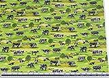 Countryside Kühe Gras Grün 100% Baumwolle Hochwertiger