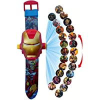 IndusBay® Ironman 24 Images Projector Digital Toy Watch with Ironman Mask Cover for Kids - Good Return Gift - for Kids Boys …