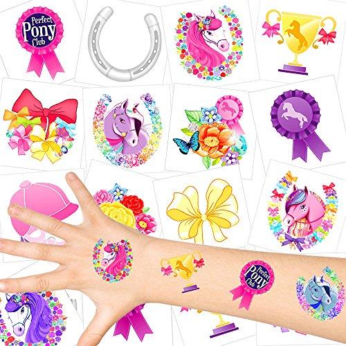 - Pferde Kinder Tattoos - Set ┃ NEU ┃ Pferde Party ┃ Kindergeburtstag ┃ Mitgebsel ┃36 Tattoos (Rapunzel Geburtstag)