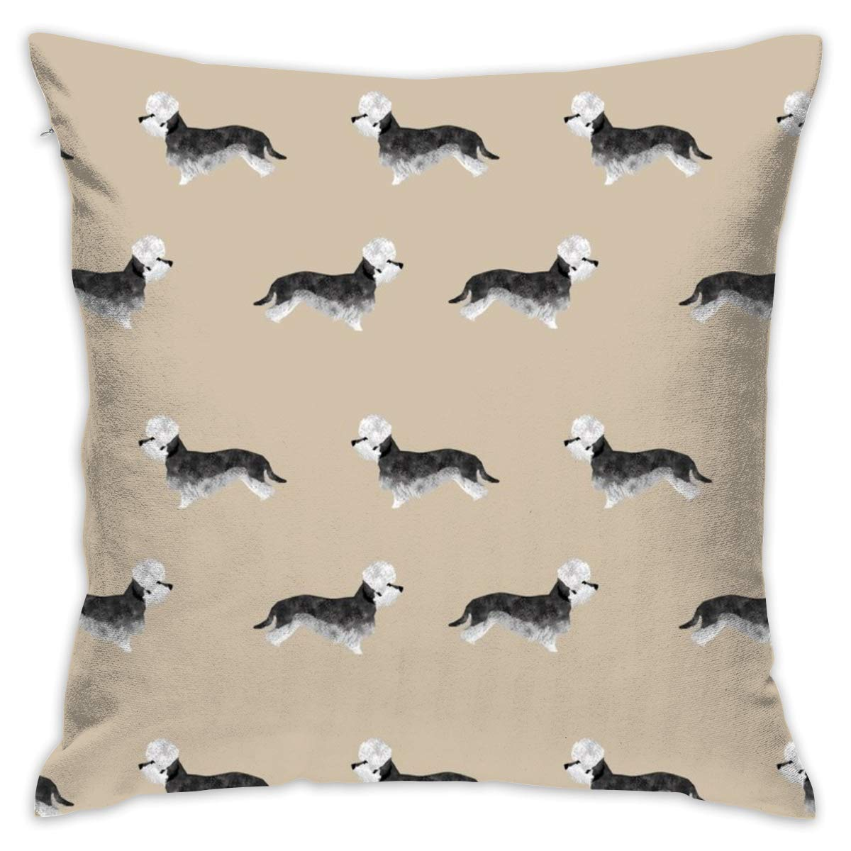 Mabell Beautifully decorated home Dandie Dinmont Terrier – Pepper Dog Coat, Dandie Dinmont Dog, Terrier Dog, Dog Breed – Khaki Throw Pillow Case 18X18 Inches