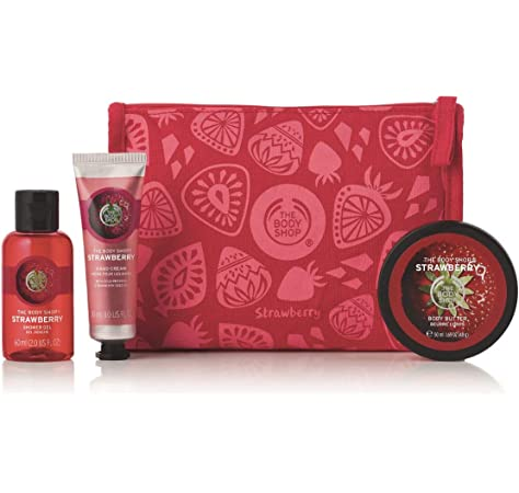 Details about The Body Shop Gift Bag Body Butter Hand Cream Shower Gel Gift Set Delights Bag