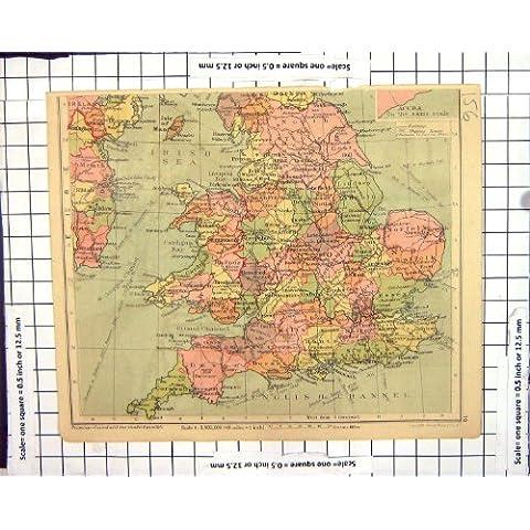 Isole Britanniche Irlanda Nigeria Fisica della Mappa dell'Inghilterra del Wight