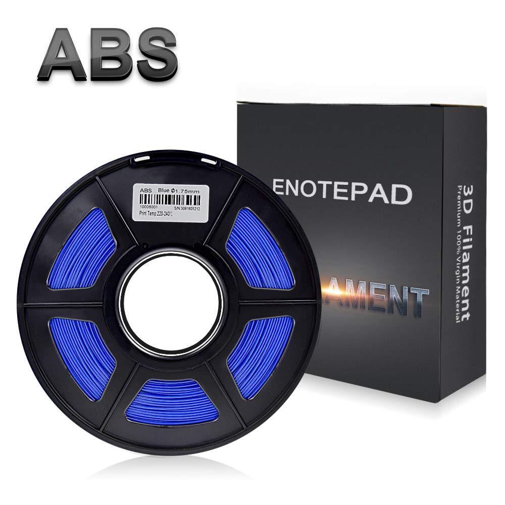 Enotepad Bleu ABS 3D Filament d'impression,Filament ABS pour imprimante 3D,précision Dimensionnelle +/- 0,02 mm, 1 kg/Bobine, 1,75 mm, Filament ABS pour imprimante 3D