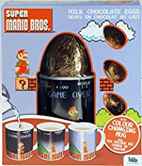 Idea Regalo - Super Mario Bros latte uova di cioccolato con Cambiano Colore tazza 82g