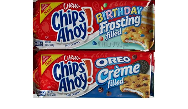 Admirable New Chips Ahoy Oreo Creme And Birthday Frosting Filled Cookies Funny Birthday Cards Online Fluifree Goldxyz
