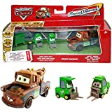 Disney Cars Cast 1:55 - Gift Pack Race o Rama - Mater, Bruiser Bukowski, Chick Hicks Pitty - 3 vehículos