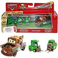Disney Cars Cast 1:55 - Gift Pack Race o Rama - Mater, Bruiser Bukowski, Chick Hicks Pitty - 3 vehículos