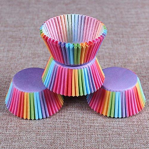 (Kc-1981 K&C Regenbogen Cupcake Halter Cupcake Liner Mini Baking Cups 200 Count)