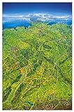 Deutschland Panoramakarte plano 148x97cm im Folienschlauch