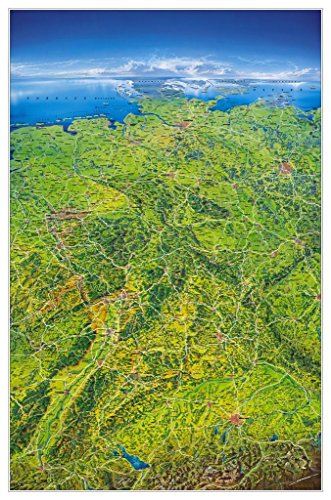 Preisvergleich Produktbild Deutschland Panoramakarte plano 148x97cm im Folienschlauch