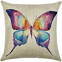 Hengjiang 120g spessore cuscino copre stile country americano creativo farfalla cotone fronte-retro piazza federa cuscino per sedia casa divano letto Shop bar Club auto ufficio Decor #22