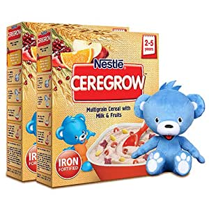 Nestle Ceregrow, 300g (Pack of 2) with Free Toy Teddy Bear