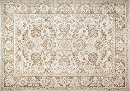 Carpet Decor Zone Tapis de Sol Facile à Nettoyer Bonne qualité Tapis Tebriz Crème 160 x 230