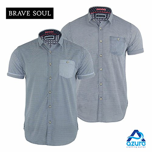 Brave Soul Herren Freizeit-Hemd White | Navy