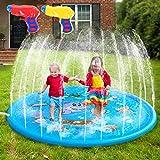 AILUKI Splash Pad Wasserspielzeug Spielmatte Outdoor Garten Splash Spielmatte für Baby Party...