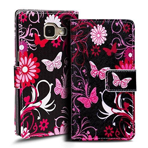 Verco Handyhülle Galaxy A3 2016 Muster, Motiv Hülle für Samsung Galaxy A3 Book Case Flip Cover - Design 7