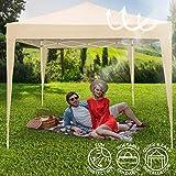 Pavillon tonnelle de jardin - pliant (montage rapide) - beige – 3 x 3 m - avec sac de transport - DIVERSES COULEURS AU CHOIX