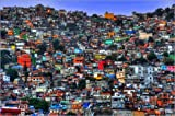 Poster 90 x 60 cm: Favela Rocinha in Rio de Janeiro von HADYPHOTO by Hady Khandani - hochwertiger Kunstdruck, Kunstposter