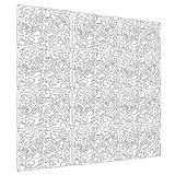 languan 12Schmetterling Blumen und Vogel Kunststoff zum Aufhängen Bildschirm Vorhang Raumteiler Partition white02