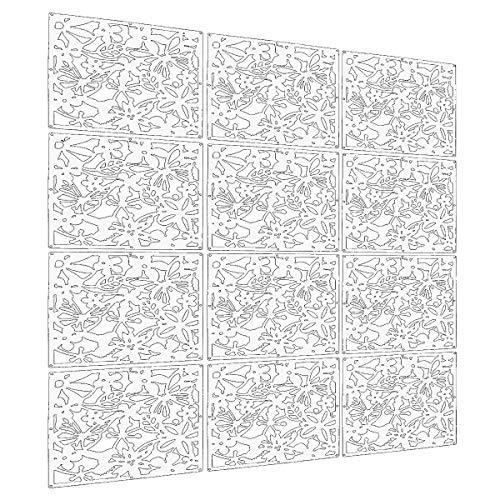 Languan 12Schmetterling Blumen und Vogel Kunststoff zum Aufhängen Bildschirm Vorhang Raumteiler Partition white02 -