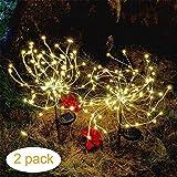 Solar-Lichterkette für den Außenbereich, 105 LEDs, 35 Kupferdrähte, Landschafts-Lichterkette, DIY Blumen, Feuerwerke, Bäume für Gehweg, Terrasse, Rasen, Hinterhof, Weihnachtsdekoration Modern warmweiß