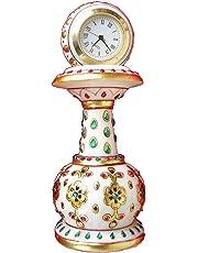 eCraftIndia Decorative Marble Pillar Watch (6 in, Multicolor)