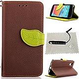 TOCASO Braun Leder Schutzhülle für LG Nexus 5 Hülle Flip Wallet Case, Leder Hüllen Portable Handyhülle Anti-Scratch [ID Card Slot] Soft Silikon Back Tasche r Schutzhüllen für LG Nexus 5