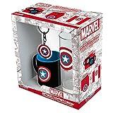 ABYstyle - Marvel - Coffret Cadeau - Verre 29cl + Keyring + Mini Mug Captain America