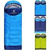 CAMEL CROWN Schlafsack 3 Jahreszeiten Portable Outdoor Wandern Camping Tools Gear, Compose zu Einem Doppel Schlafsack, mit leichten Kompressions Sack für Kinder Männer Frauen