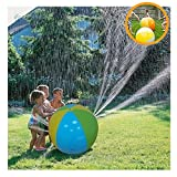 Alxcio Wasserball Strandball für Kinder Groß Spray Water Ball Spaß Outdoor Spielzeug für Hot Sommer Schwimmen Party Beach Pool Spielen - Durchmesser 75 cm