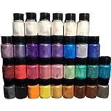 COMEYER mica poeder-32 kleur pigment levering parels voor make-up/lipgloss kleuring/zeep maken/epoxy kleurstof/dye diy craft