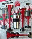 Fisa 0036023 Tromba Pneumatica Musicale La Cucaracha, Rosso, 150mm/335mm, Confezioni da 5