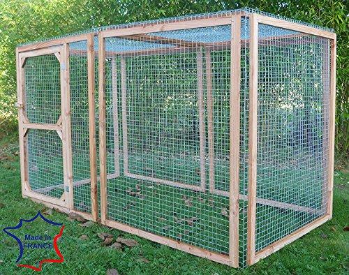 Enclos poule anti-prédateurs hauteur 100 cm made in France Taille 3 mètres