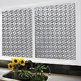 Soriace Prämie 3D Statische Fensterfolie Sonnenschutz und Isolierung / Sichtschutzfolie / Dekorfolie / Statisch Folie für Fenster (Selbstklebend und Kein Klebstoff), 1.5Ft X 6.5Ft.(45 x 200Cm)(Muster 2)