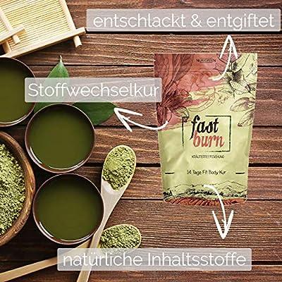 Body Fit Detox Tee - 14 Tage Entschlackungskur - 100% natürliche Kräuterteemischung - Grüner Tee, Rooibos, Hibiskusblüten, Hagebutten, Ingwer & Chillies - Kann ergänzend zur Diät oder Abnehmen verwendet werden! ++ Gratis Body Guide ++ von NURIGREEN