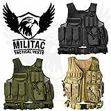 militac–Phoenix táctico chaleco–Ideal para Airsoft–disponible en color negro, verde, MTP, negro