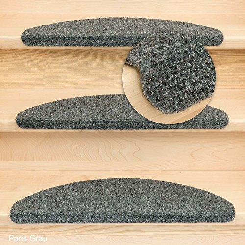 Kettelservice-Metzker® Stufenmatten Paris incl. Fleckentferner - Grau 15er SparSet
