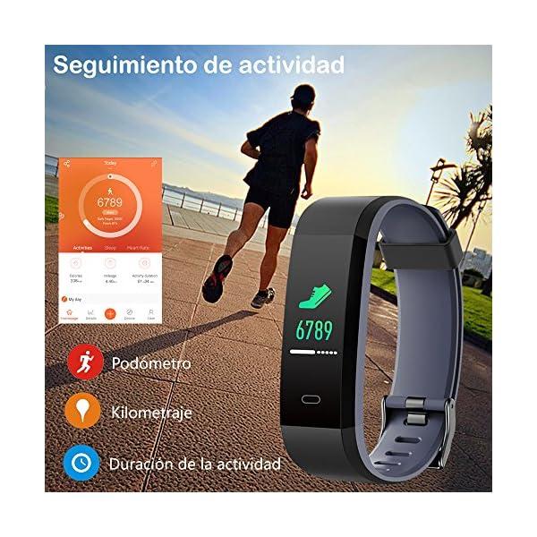 Willful Pulsera Actividad, Pulsera Actividad Inteligente Pantalla Color Reloj con Pulsómetro Impermeable IP68 Podómetro… 3
