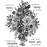 Stampers Anonymous Tim Holtz Glorious Bouquet Cling Stamp Cms325