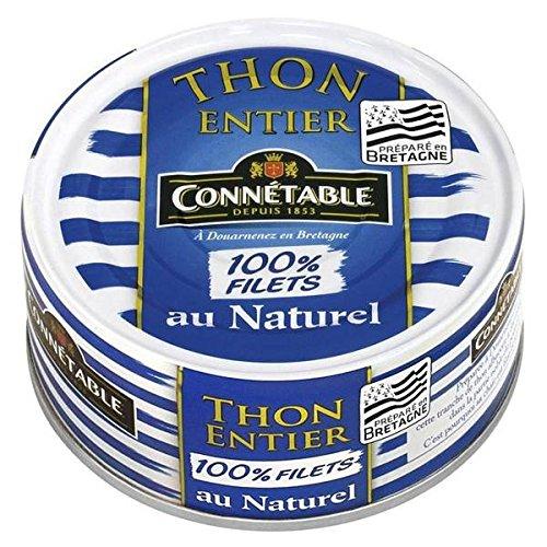 Connetable thon albacore entier au naturel 100% filets 1/5 112g - ( Prix Unitaire ) - Envoi Rapide Et Soignée